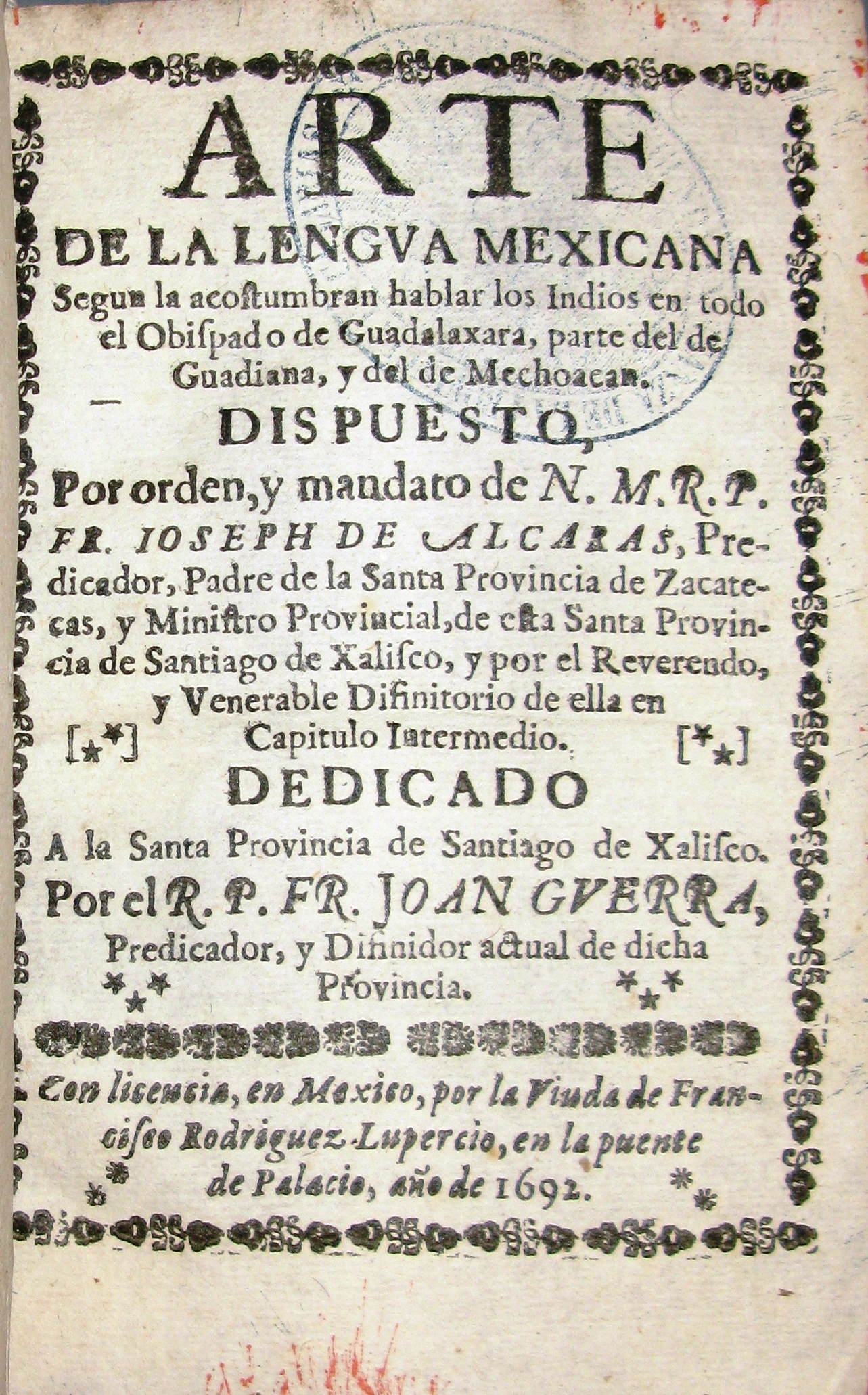 Guerra. Arte de la Lengua mexicana (port.