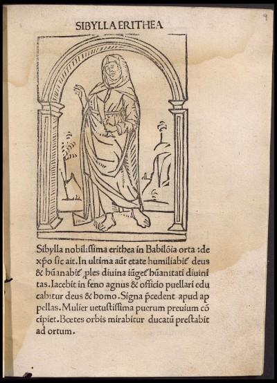 Grabado xilográfico del incunable nº 16 de la Biblioteca Universitaria de La Laguna